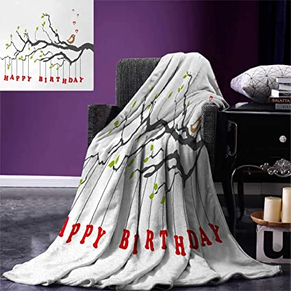 6ab648687ca57 Amazon.com: Birthday Lightweight Blanket Letters Hanging from Branch ...