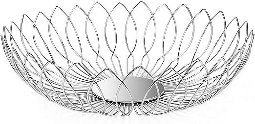 Kitchen Amzaing Hanging Storage Fruit Basket Metal Wire /& Chrome Finish