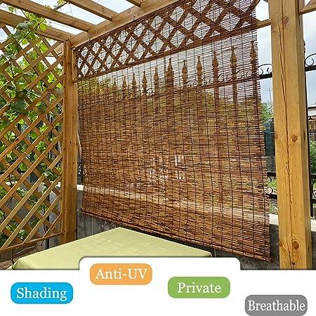 LMDX Estores Bambú Exterior,Cortina De Madera,Sombra Respirable,Jardín Patio Pantalla De Privacidad,Decoración Hogar,Persianas Enrollables Interior Cocina: Amazon.es: Hogar