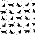 Cat Gift Wrap Wrapping Paper and Free Tag Black Cat Lover