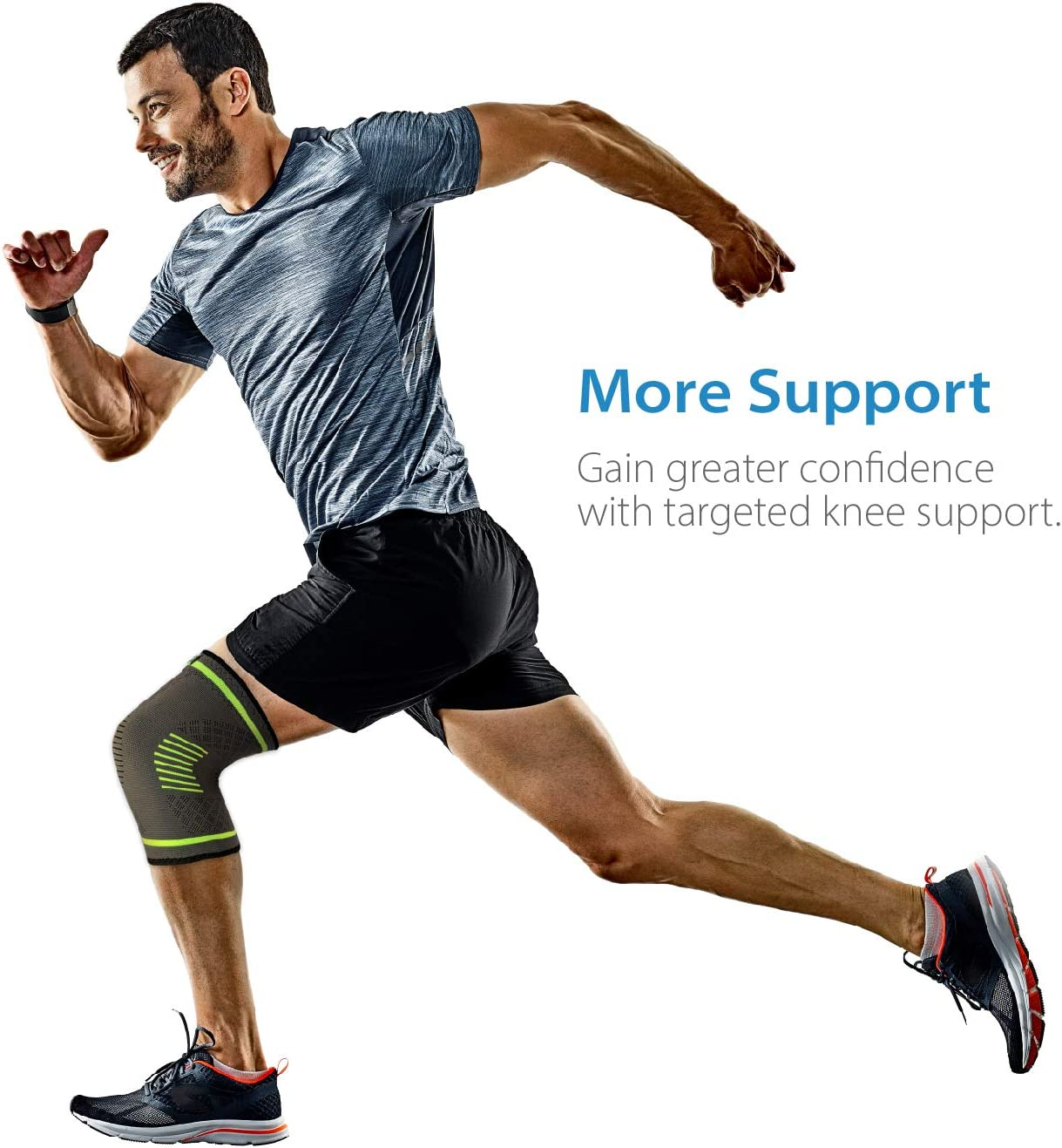 Injury Arthritis Best Knee Sleeve Single Wrap - - Braces and Supports Knee for Pain Relief NatraCure Compression Knee Sleeve Size: Medium and Joint Pain Running Meniscus Tear