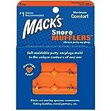 Macks Pillow Soft シリコン耳栓 6ペア オレンジ【作業、勉強での騒音を防止。水泳でも使用できる防水耳栓。快適な睡眠にも】