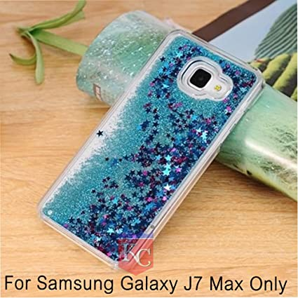 detailed look 56868 054e4 KC Liquid Flowing 3D Bling Glitter Star Transparent Soft Back Cover for  Samsung Galaxy J7 (Max) (Blue)
