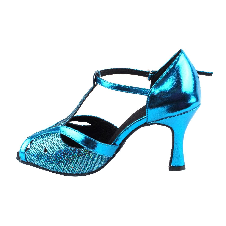 Ballroom Salsa Wedding Clubing Swing 50 Shades Blue /& Purple Ballroom Latin Dance Shoes for Women