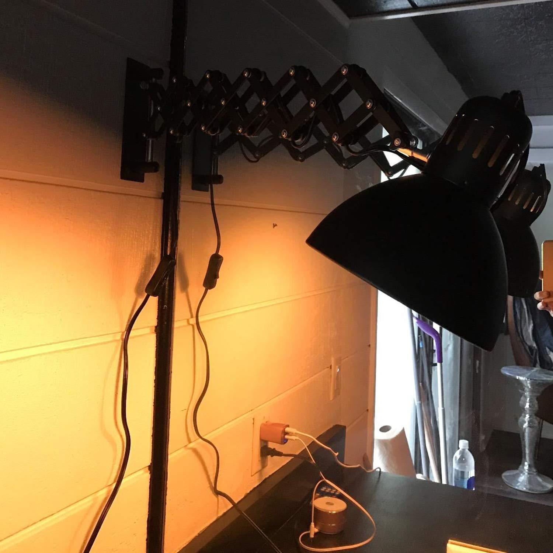 Ausziehbar Scherenlampe Vintage Industrial Wandleuchte Wandleuchte Schwenkbar Schwarz Leseleuchte Flexible B/üroleuchte Wandlampe mit Schalter Dimmer Links//Rechts Schlafzimmer Nachttischlampe
