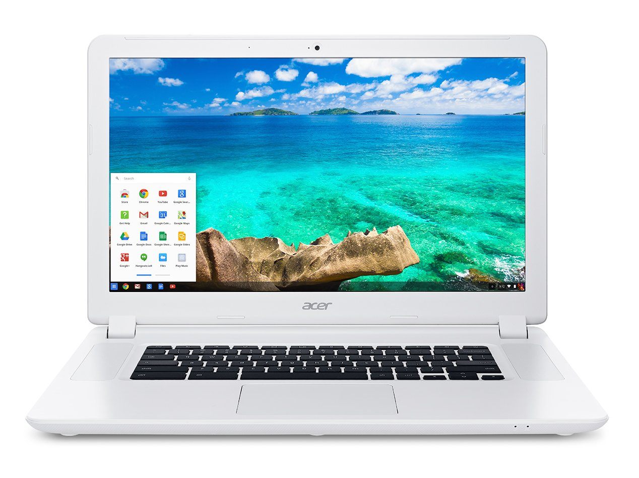 The Acer 15 has a huge screen for a Chromebook, which is perfect for kids and students to study and play.