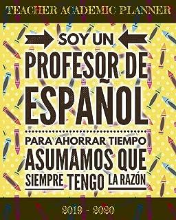 Agenda 2019-2020 Profesor de Español: Planificador y Agenda ...