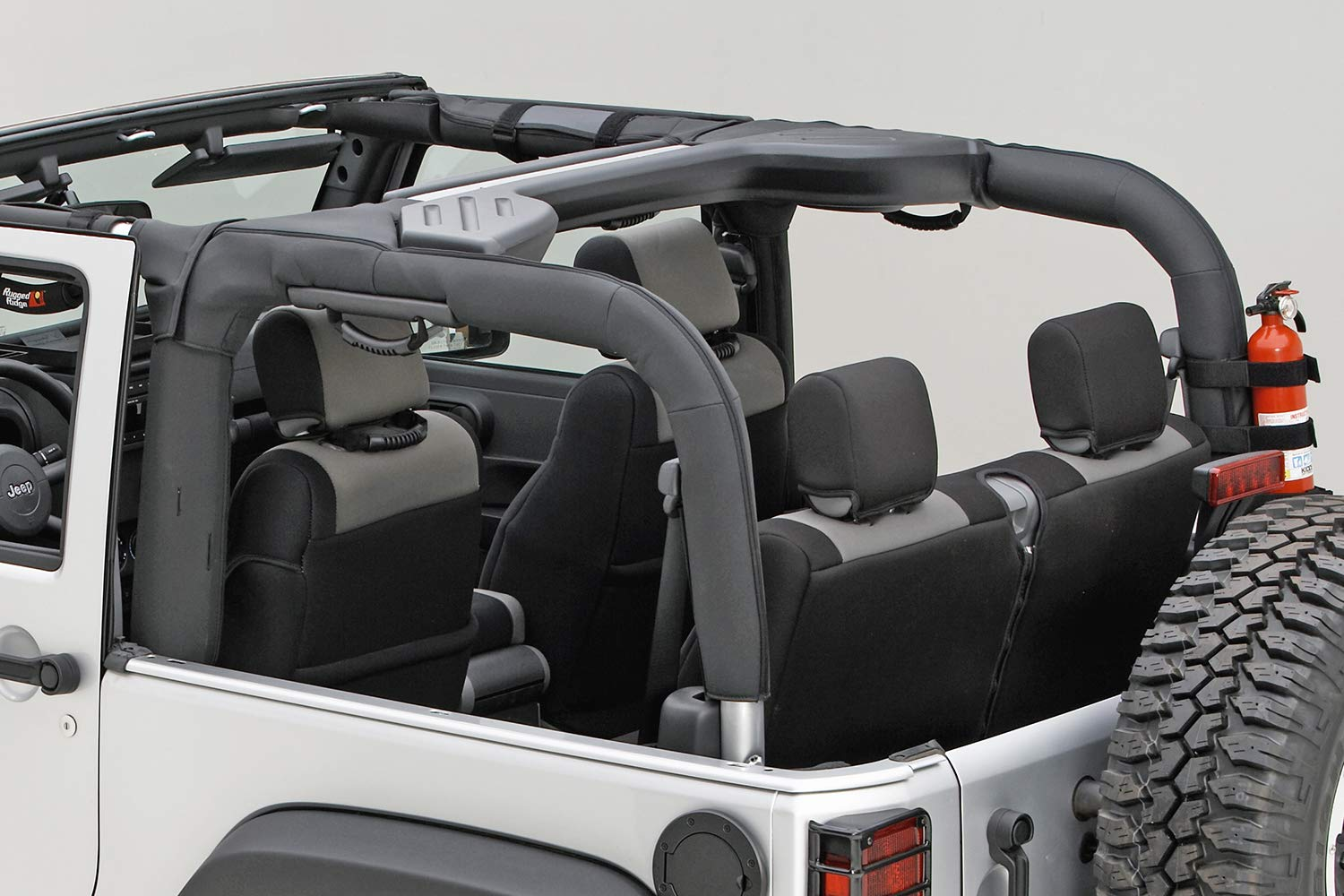 Rugged Ridge 13613.02 Black Polyester Roll Bar Cover for Jeep Wrangler