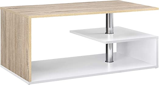 [en.casa] Mesa de Centro 90cm x 50cm x 41cm Mesa de café Mesa ...