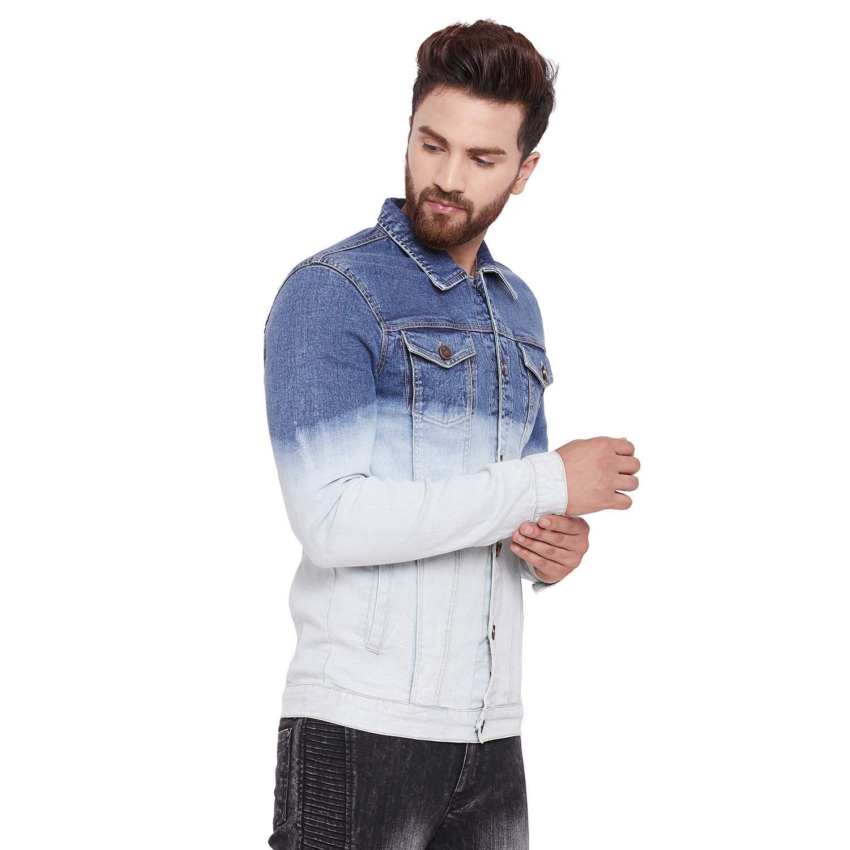 33280aa2 FUGAZEE Men's Denim Jacket (Blue, XX-Large): Amazon.in: Clothing ...