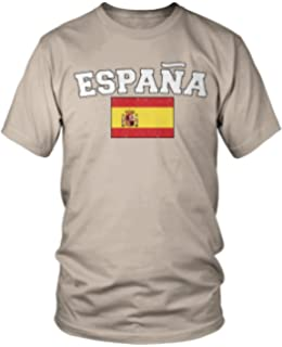 Amdesco Mens Espana Flag, Flag of Spain, Spanish Flag T-Shirt