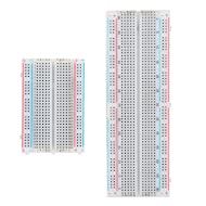eBoot Experiment Solderless Breadboard with Adhesive Tape, 400-Points and 830-Points, 2 Pieces