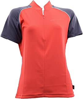 Briko T-Shirt Ciclismo Spinning Donna Zion B-Concept Rosso Nero 010423-VC