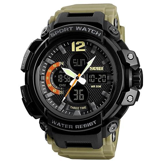 LHZTZKA - Reloj Deportivo para Actividades al Aire Libre, Resistente al Agua, Reloj Digital de natación y retroiluminación de Alarma: Amazon.es: Relojes