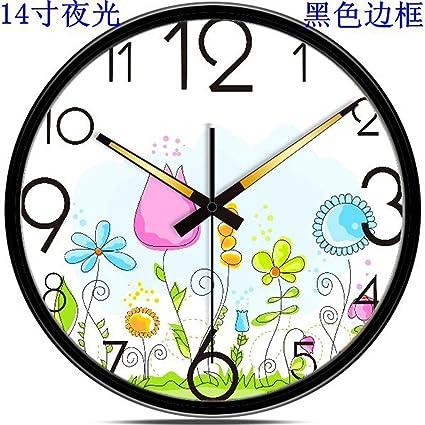 """SL&HEY El salón creativa Silencio de metal relojes Reloj Digital Reloj de pared 14"""" ,"""
