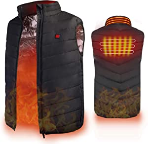 Heated Vest, Enjoyee Warming Heated Vest for Men Women Unisex Electric Heating Vest for Skiing Hunting