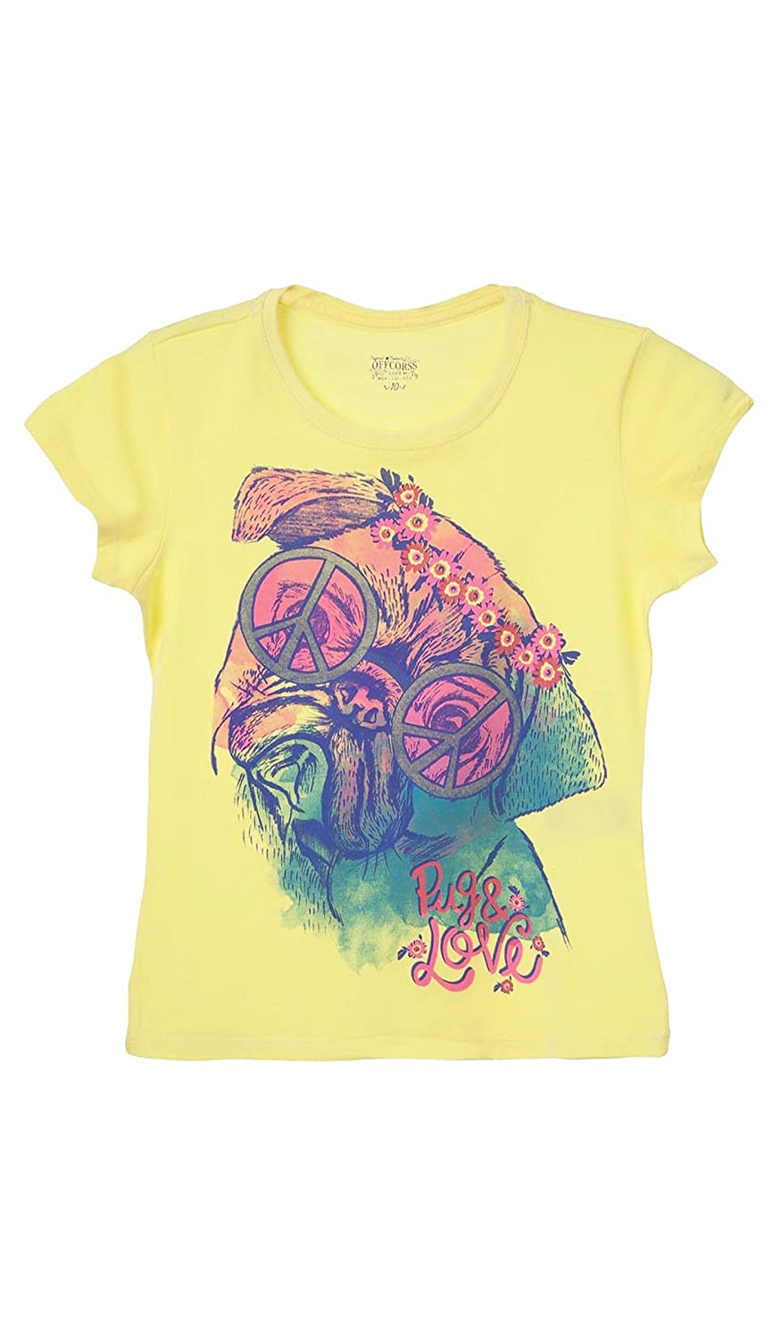 OFFCORSS Trendy Colored Girls T Shirts Blouses Camiseta Franela de Ni/ñas