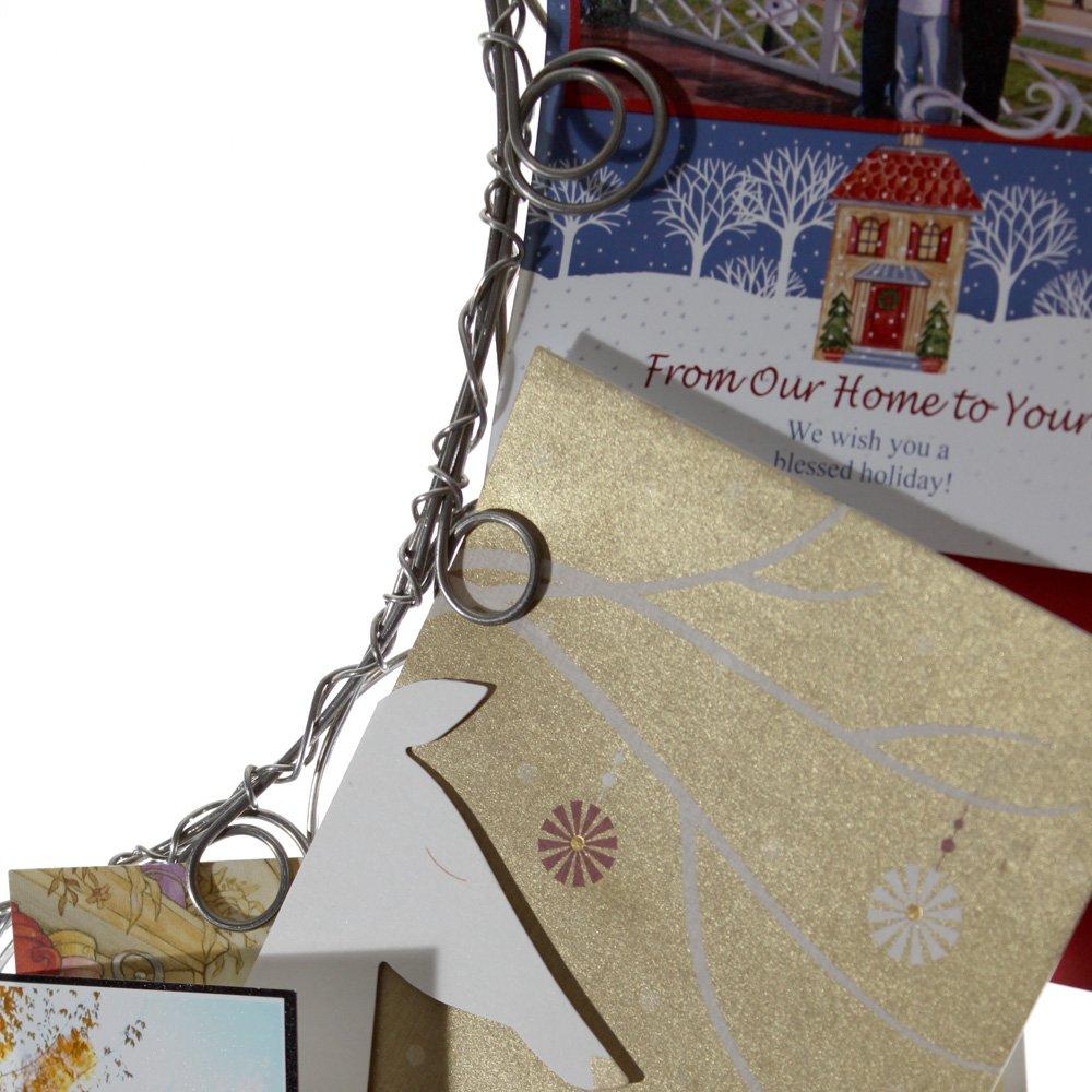 Amazon.com: Christmas Wreath Card Holder, Christmas Card and Photo ...