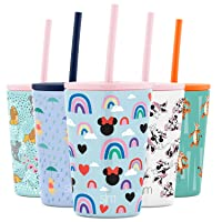 Simple Modern Disney Kids Cup 12oz Classic Tumbler with Lid and Silicone Straw - Vacuum Insulated Stainless Steel for Toddlers Girls Boys - Disney: Minnie: Rainbows