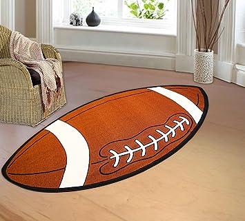 High Quality Kids Sports Football Shape Area Rug Actual Size ...