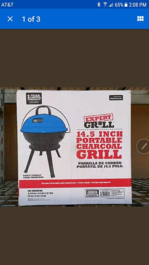Amazon.com : Expert Grill New 14.5 inch portable charcoal ...