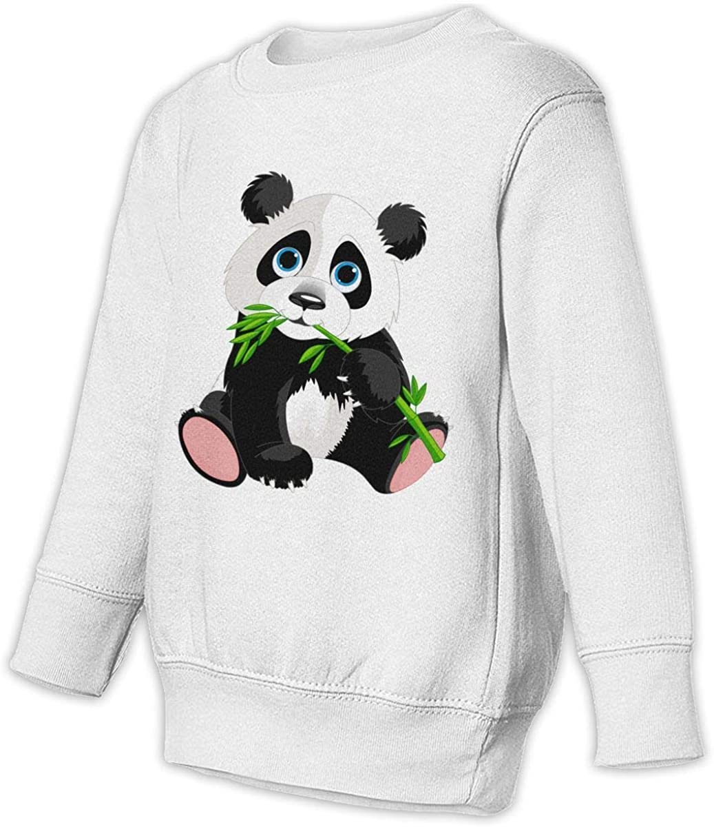 Panda Eat Bamboo Boys Girls Pullover Sweaters Crewneck Sweatshirts Clothes for 2-6 Years Old Children