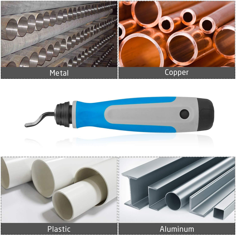 outil de retrait de bavure pour plastique Starvast Kit doutils d/ébavurage /à main en caoutchouc avec 15 lames rotatives /à 360 degr/és aluminium cuivre et acier