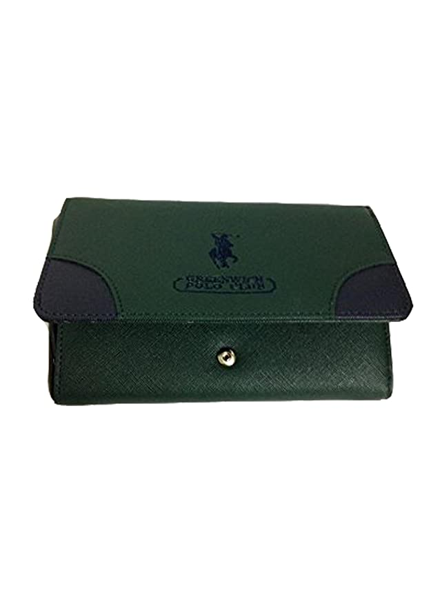 GREENWICH POLO CLUB - Cartera para mujer Verde verde e blu: Amazon.es: Equipaje
