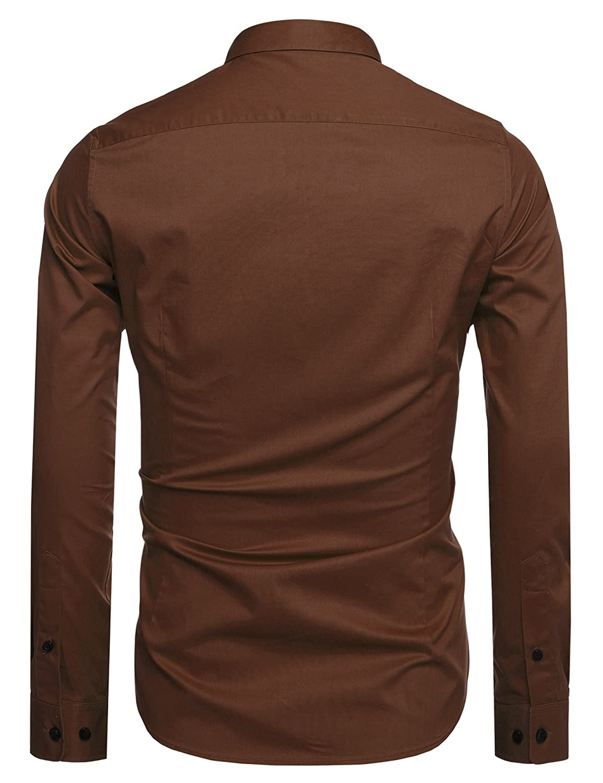 Coofandy Men's Fashion Slim Fit Button Down Shirts Long Sleeve ...