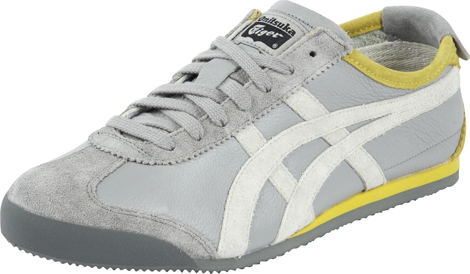 factory authentic ab29a 81dce Onitsuka Tiger Mexico 66 Vintage Leather Grey White Yellow ...