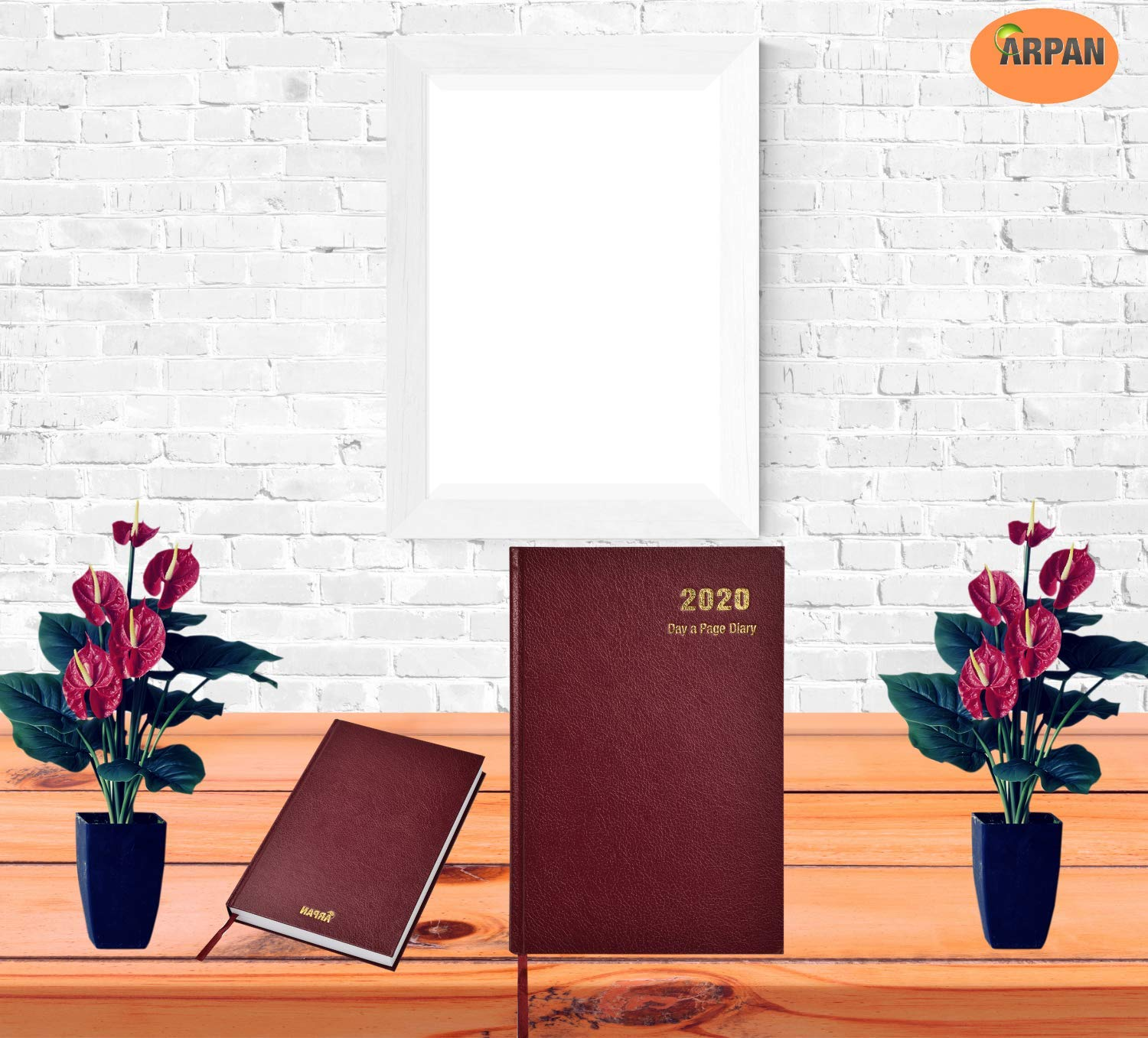 Amazon.com : 2020 Diary A5 One Day to Page Hardback Cover ...