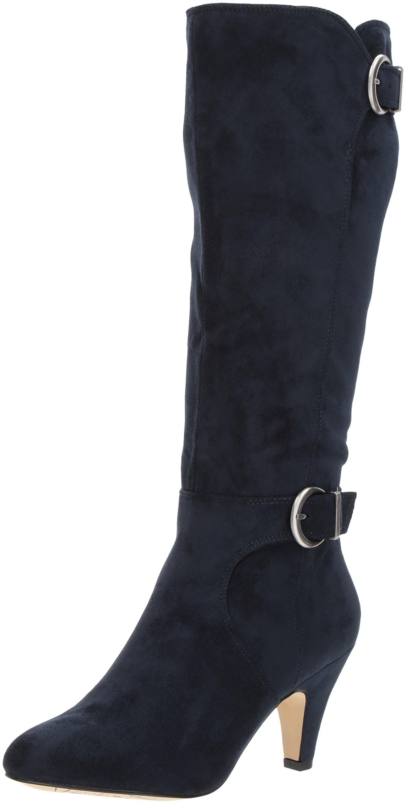 Bella Vita Women's Toni Ii Harness Boot, Navy Super Suede, 7 M US