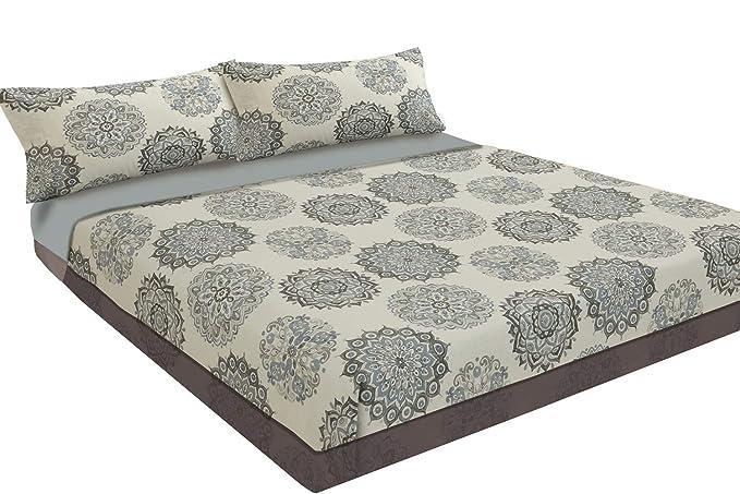 Juego de sábanas estampado Estrellas DENIM STAR (Azul, para cama de 135x190/200): Amazon.es: Hogar