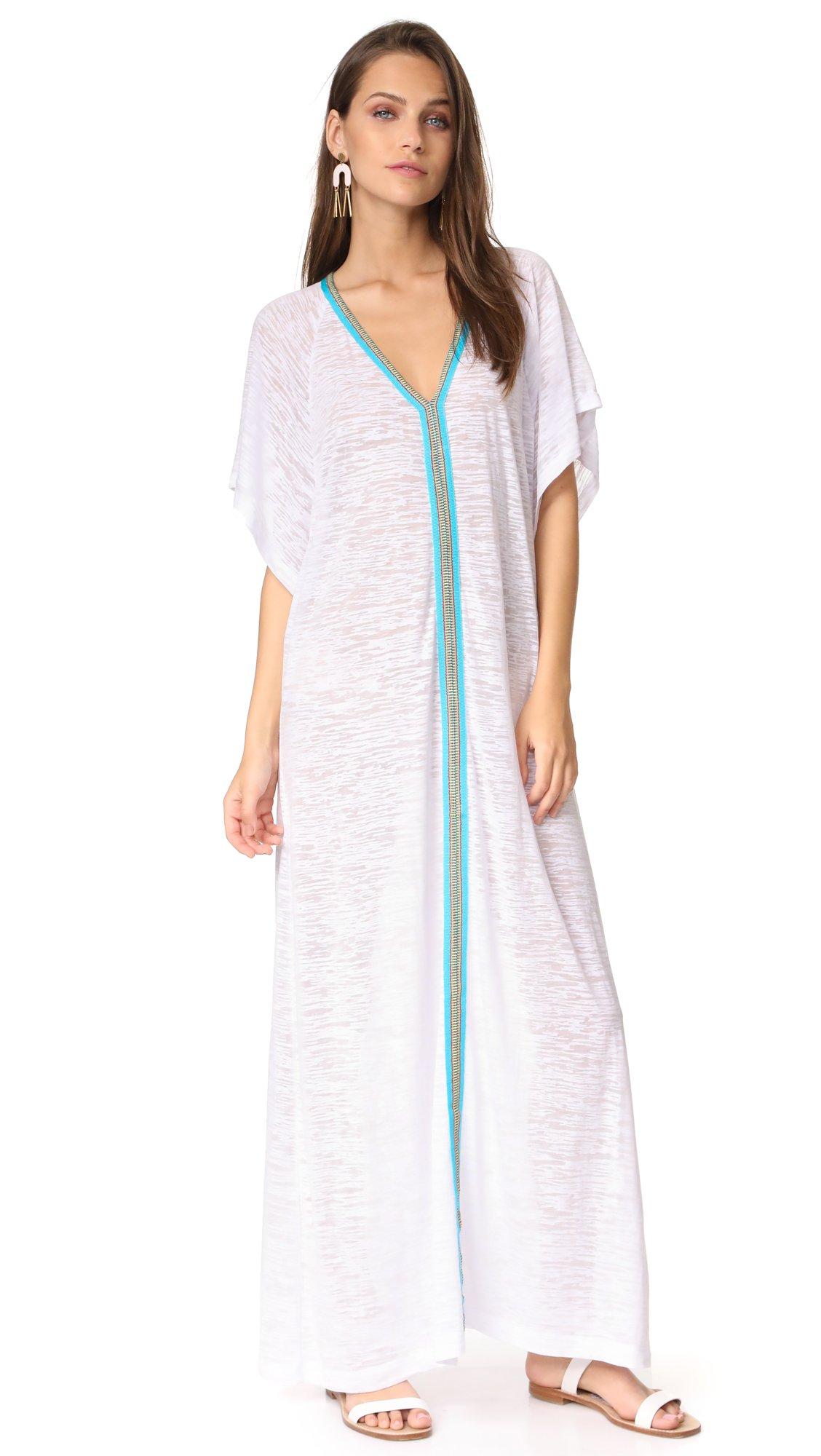 Pitusa Women's Abaya Maxi Dress, White, One Size