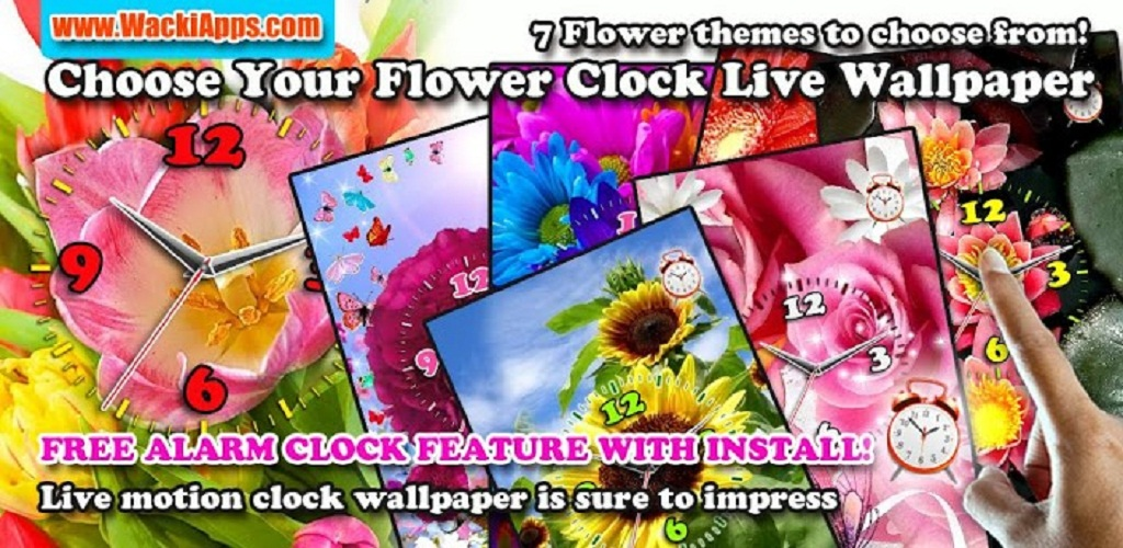 Amazon com: Choose Your Flower Clock LWP: Appstore for Android