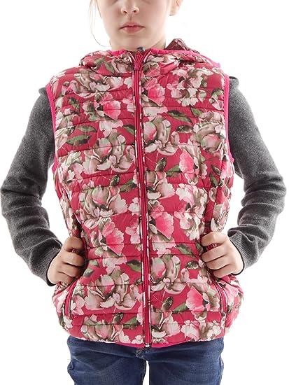 da5326dc9f CMP Girl's Down Vest 3Z50145P Floral - Red -: Amazon.co.uk: Clothing