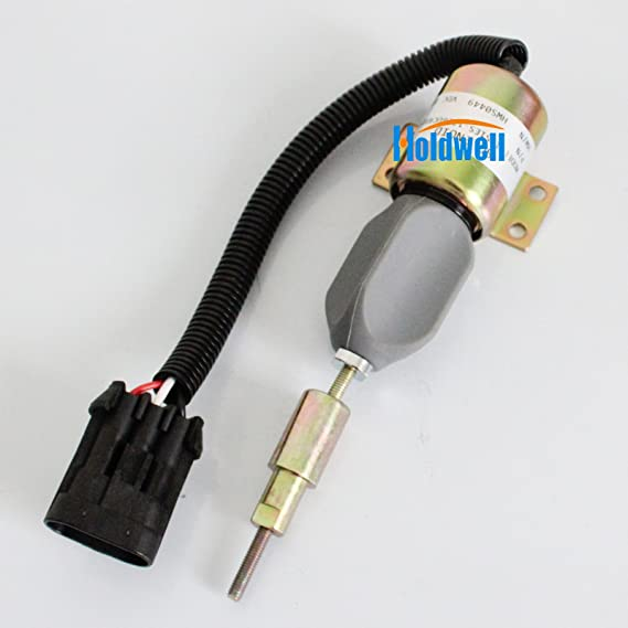 Fuel Shutoff Solenoid 1751ES-12E6UC4B1S5 12v F1HZ9N392A For Ford 7.8L