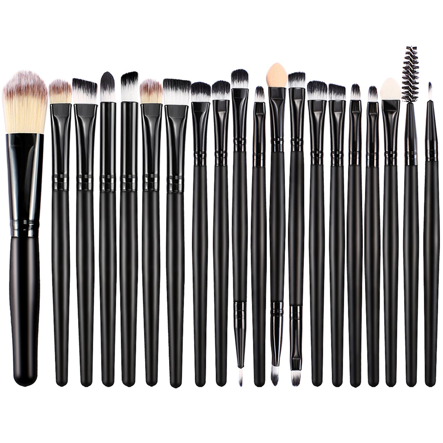 BESTOPE Pinceaux de Maquillage Kit de 20 Pièces Set de Pinceaux Yeux et Visage Brosse Cosmétique Professionnel de Pinceau Poudre,à Sourcil, Outil de Maquillage Mlush,Complete Eye Set Angle Eye Shadow Brush Goupillon Palette de Maquillage