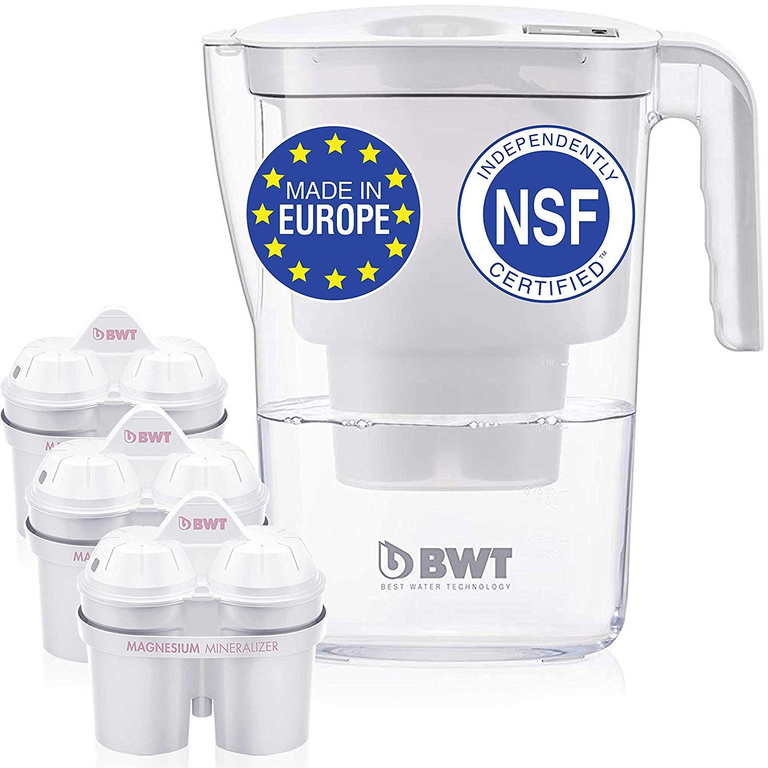 BWT Vida Water Filter Pitcher With 3 Bonus 60 Day Filters, Technology For Filtration & Taste