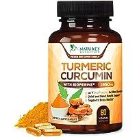 Turmeric Curcumin Highest Potency 95% Curcuminoids 1950mg with BioPerine Black Pepper for Ultra High Absorption, Made in…