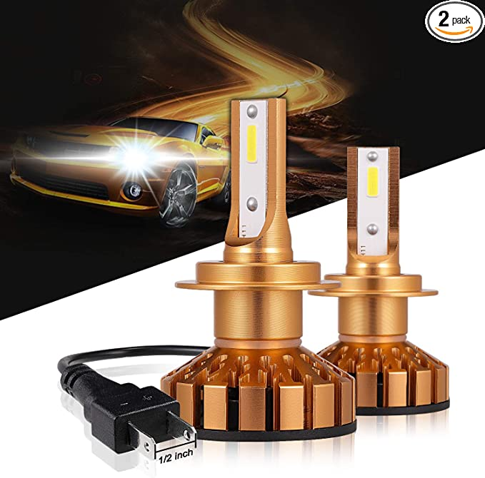 H7 100W COB LED Headlight Bulbs Pair 8000L Canbus For VW Beetle 1998-Onwards