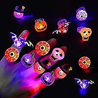 50 stks Halloween LED-vingerlicht, LED-flitsringen voor kinderen en volwassenen Feestdecoraties, Glow in The Dark…