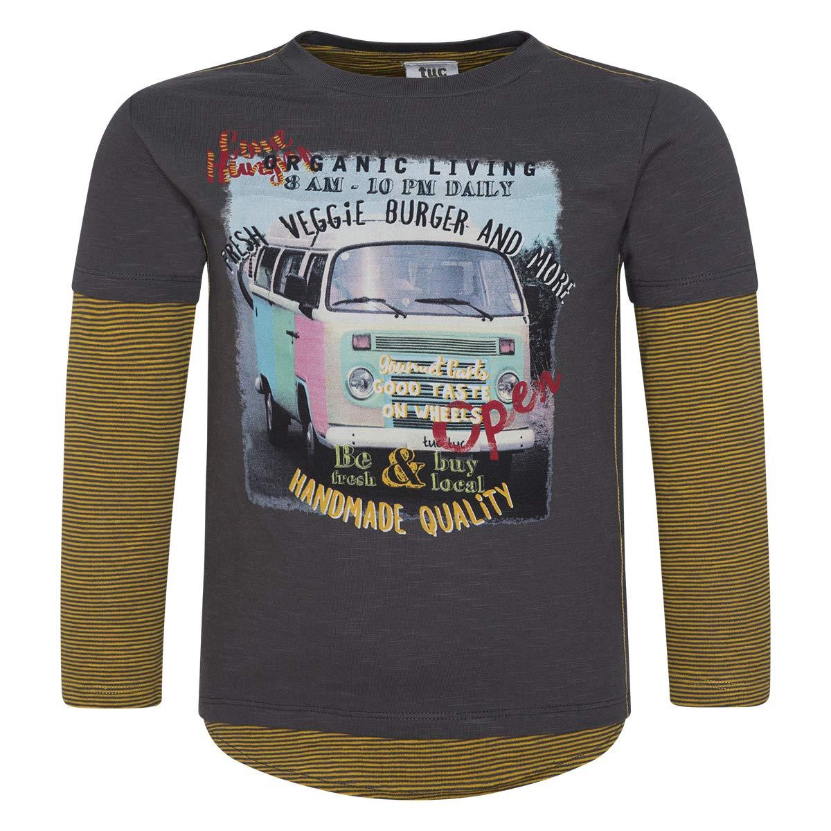 Brown Overlap Jersey T-Shirt for BOY Veggie Van
