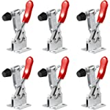 M-Aimee 6 Pack Hold Down Toggle Clamps Latch Antislip Red 201B Hand Tool 200Lbs Holding Capacity Antislip Horizontal…