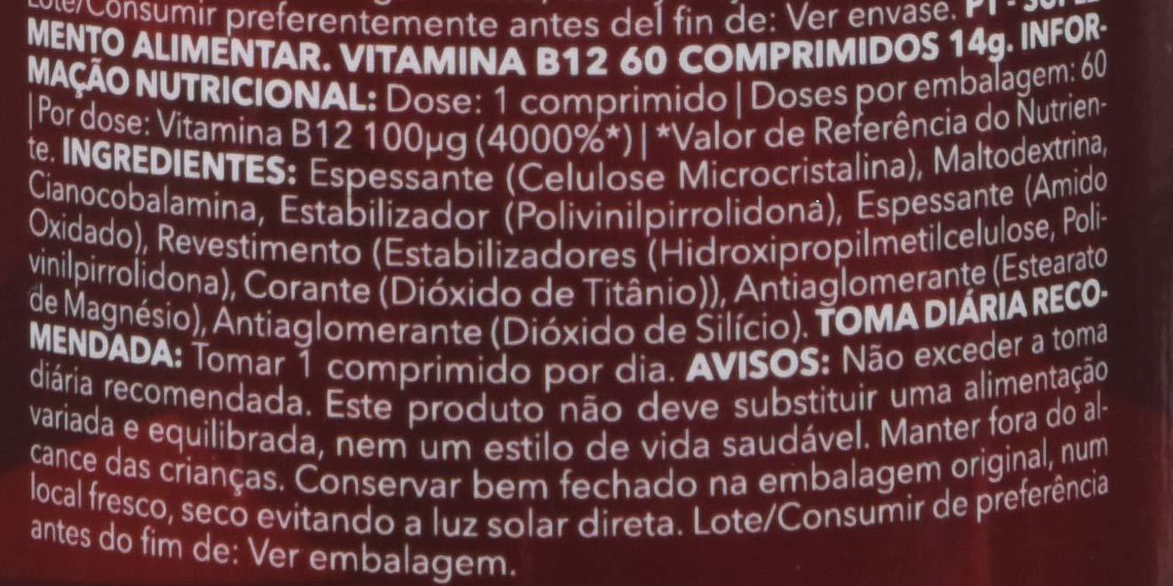 Prozis B12 - Suplemento alimenticio, apto para vegetarianos y veganos - 100mcg 60 Tabletas: Amazon.es: Salud y cuidado personal