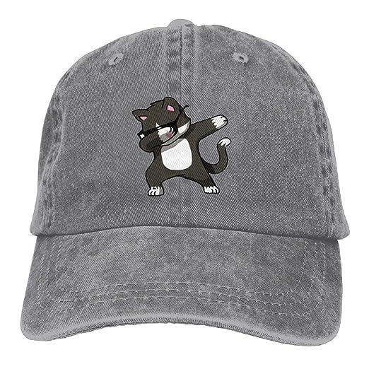 Amazon com: Cool Hip Hop DAB Cat Snapback Cotton Hat Ash
