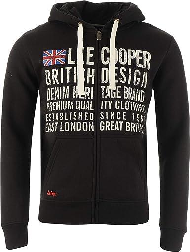 : Lee Cooper Mens Cotton Zip Up Graphic Print
