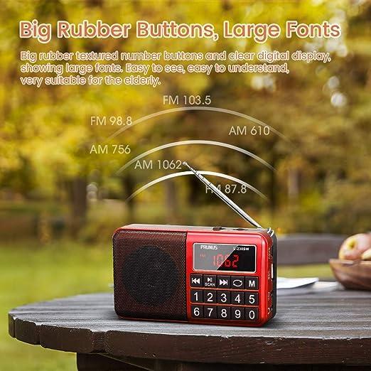 Mini Altavoz PRUNUS Radio L-238SW Reproductor MP3 SW Am(MW) FM con ...