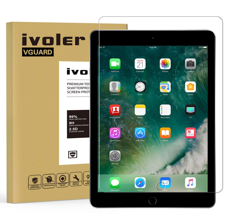 iVoler Protector de Pantalla para iPad Pro 10.5 Pulgadas, Cristal Vidrio Templado Premium [9H Dureza] [Alta Definicion 0.3mm] [2.5D Round Edge]: Amazon.es: ...