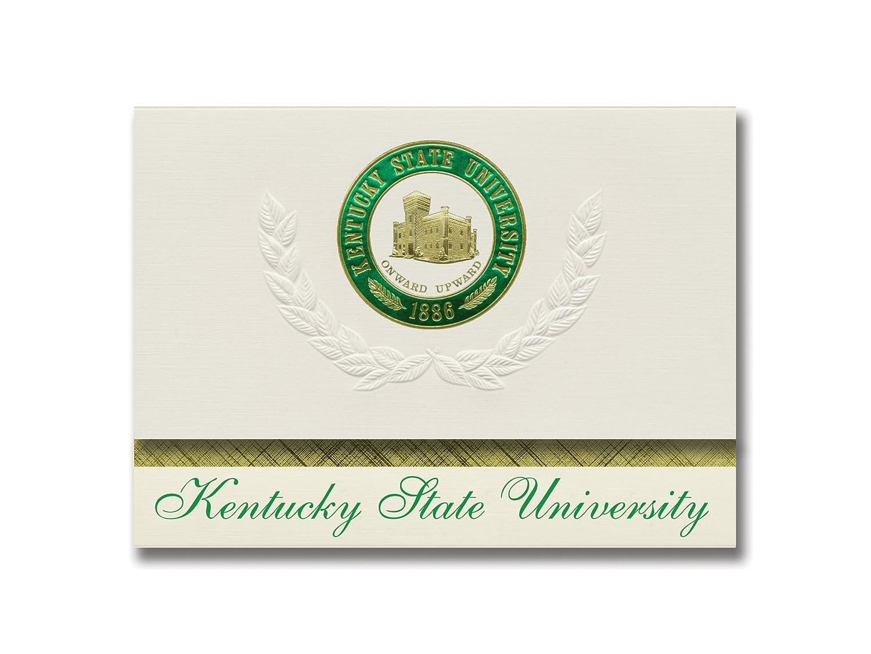 Signature Ankündigungen Kentucky State State State University Graduation Ankündigungen, platin Stil, Elite Pack 20 mit Kentucky State u. Dichtung Folie B0793M7W47 | Zuverlässige Qualität  ce57bf
